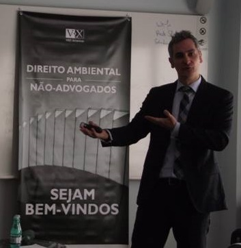 """Alexandre Sion taught the  course """"Environmental Law for non-lawyers"""" in São Paulo"""
