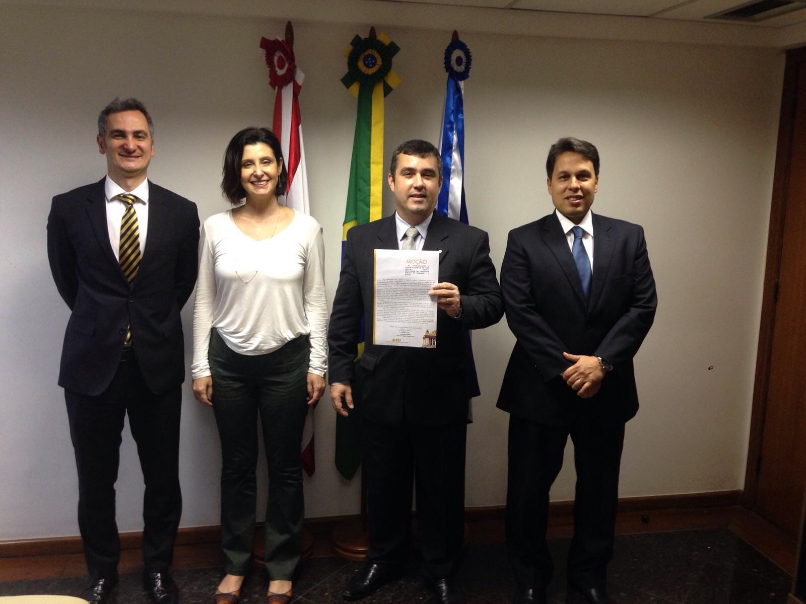 Alexandre Sion prestigia entrega da Moção de Congratulações e Louvor ao Procurador-Chefe Substituto da Procuradoria Regional do Trabalho da 1ª Região