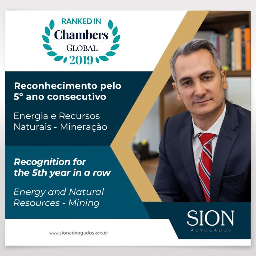 O sócio-fundador, Alexandre Sion, é indicado pelo 5º ano consecutivo – Chambers Global