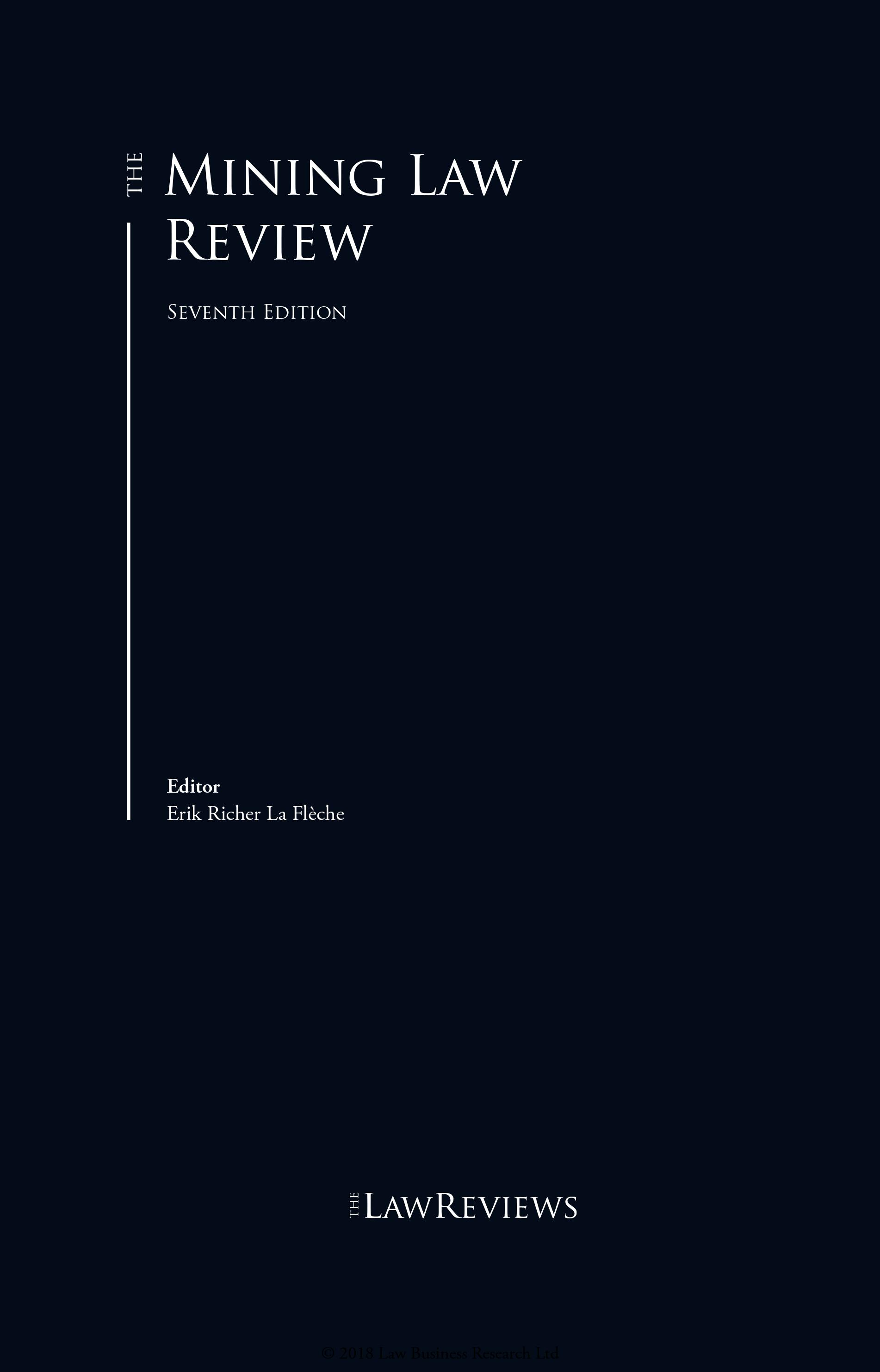 Sion Advogados write chapter about Brazil in Mining Law Review